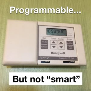 "Programmable... but nor ""smart"""